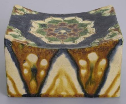 Antique Chinese Pottery Pillow