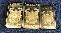 3 Pure Vatican Silver Pieces 1975