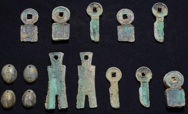 1400 year old Chinese Bronze Money 14 pieces