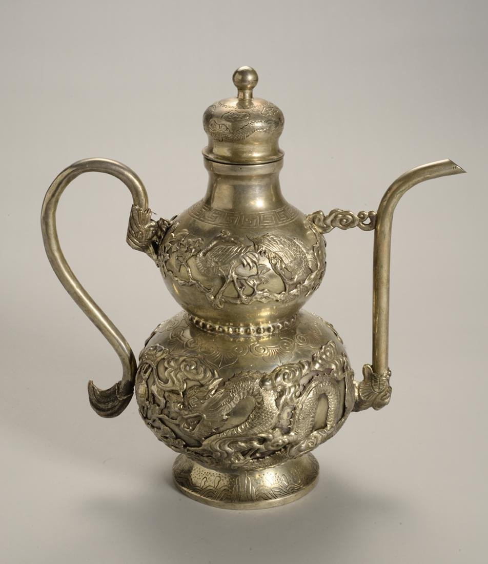 Chinese Silver Plated Tea Pot
