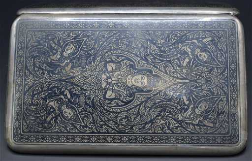 ec9fdd10bfb5 Thai Sterling Silver Cigarette Case
