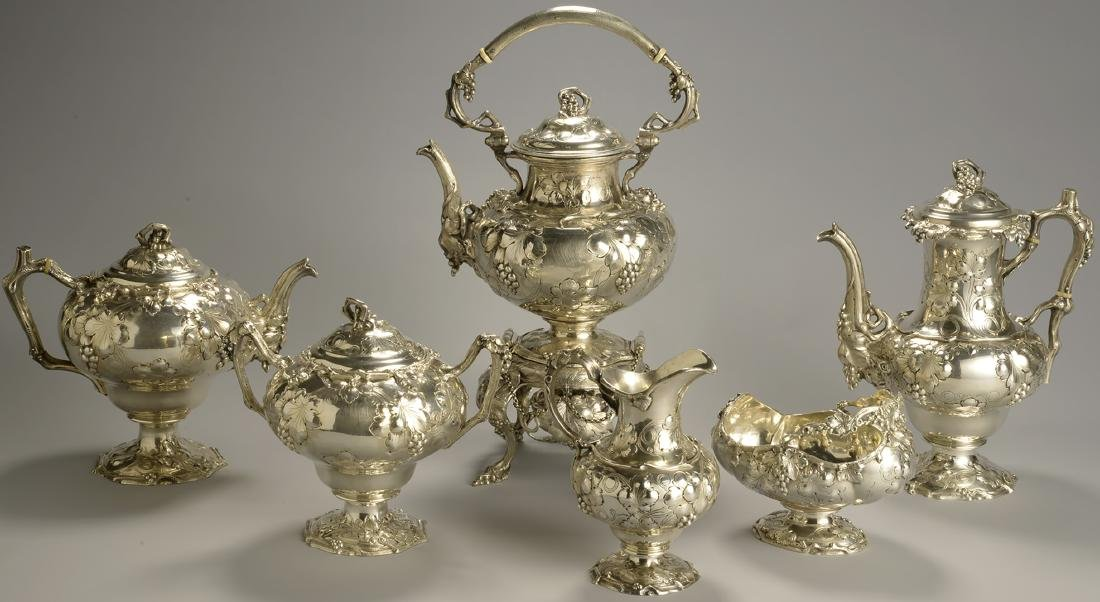 Antique Tiffany Sterling Silver Tea & Coffee Set
