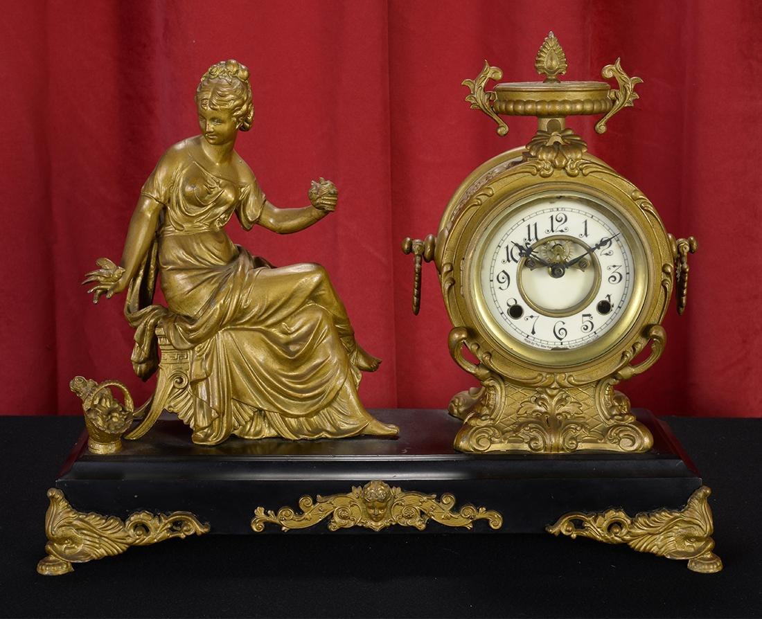 19th Century Figural Mantle Clock