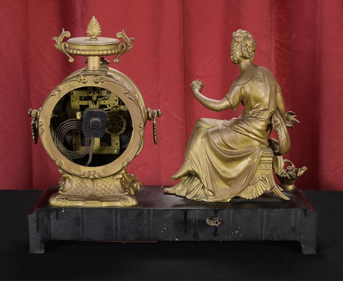 19th Century Figural Mantle Clock - 2