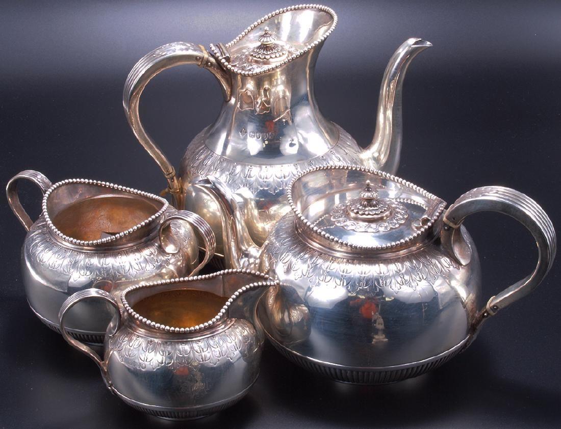Antique 4 Piece Sterling Silver Tea Set