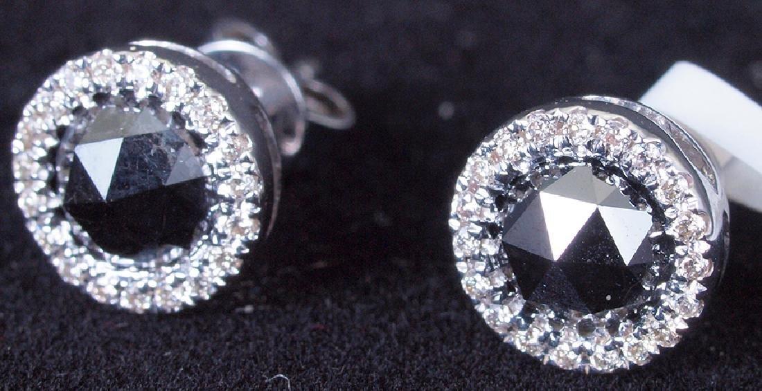 Diamond and Black Diamond Earrings