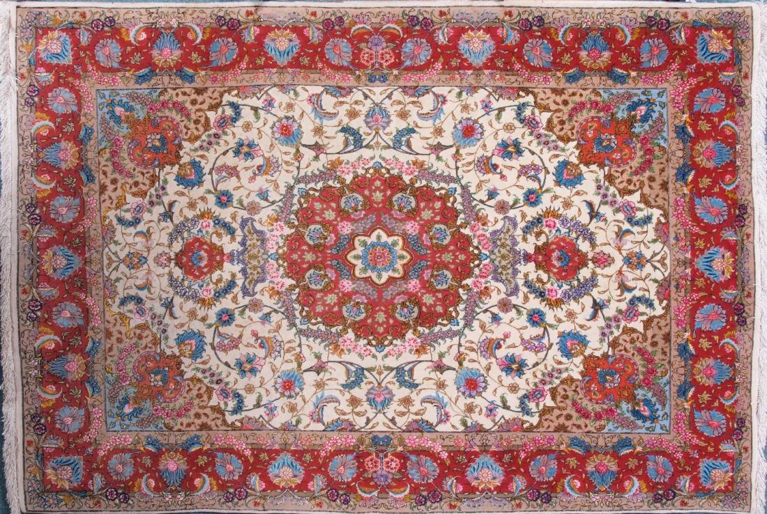 Persian 60 Raj Tabriz Carpet 7 x 4.75 FT