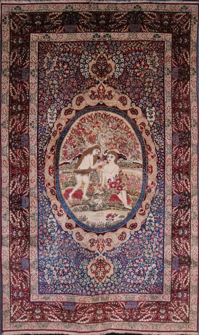 Rare Garden of Eden Carpet 7.5 x 4.25 FT