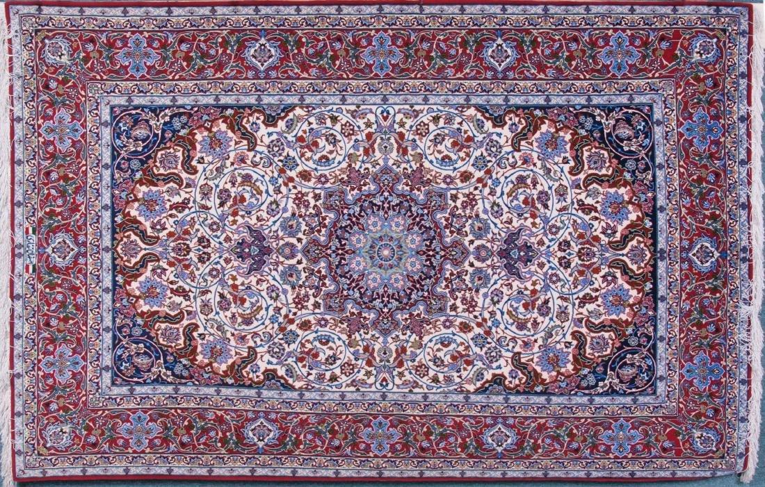 Isfahan Ghaffari Persian Rug 7.75 x 5.25 FT