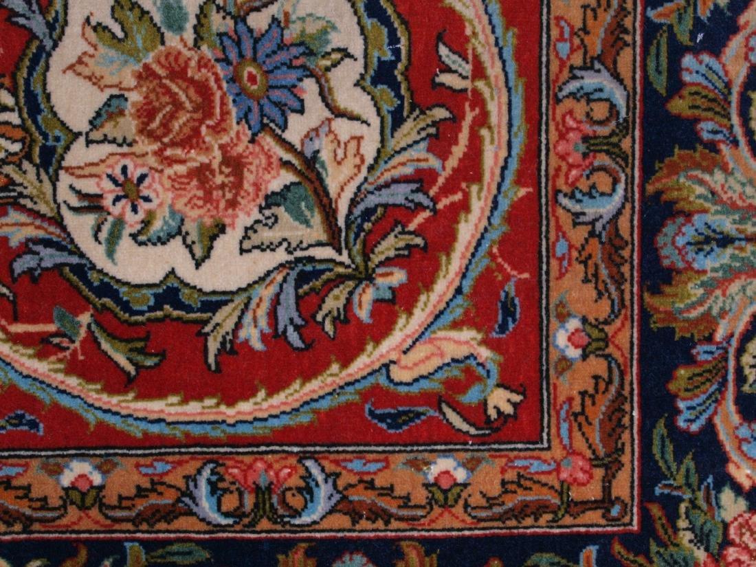 Vintage Persian Qum Carpet 7.25 x 4.5 FT - 10