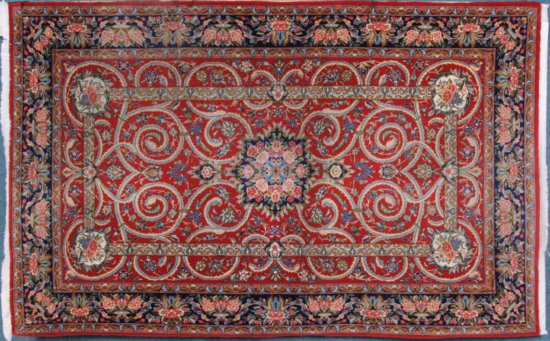 Vintage Persian Qum Carpet 7.25 x 4.5 FT
