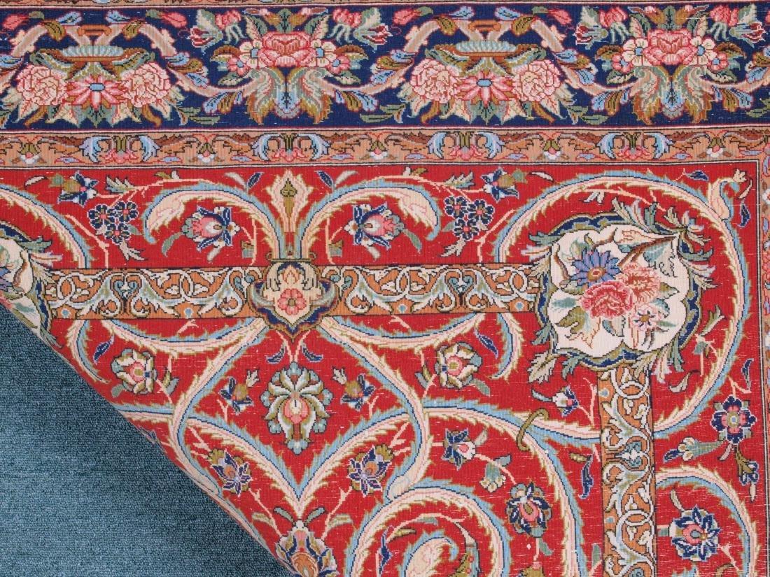 Vintage Persian Qum Carpet 7.25 x 4.5 FT - 2