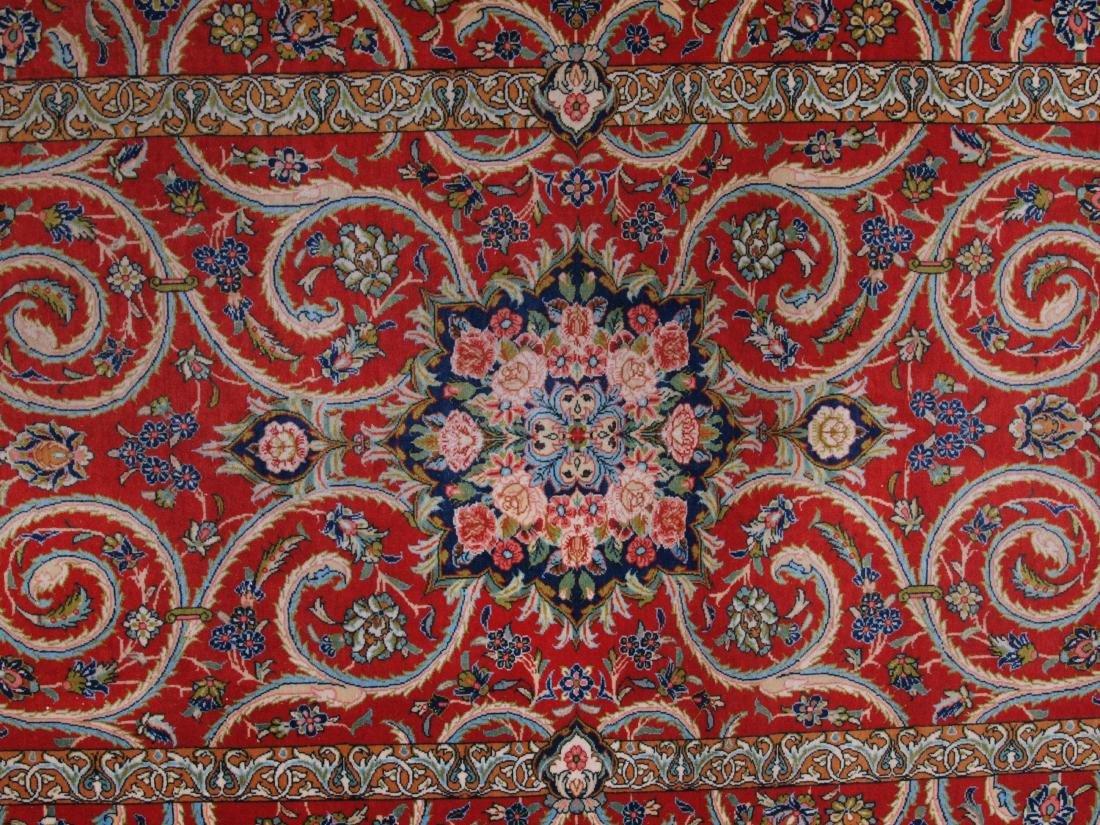 Vintage Persian Qum Carpet 7.25 x 4.5 FT - 3