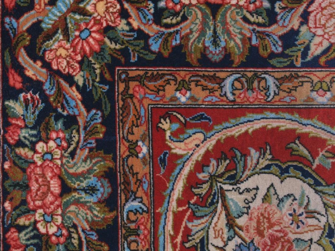 Vintage Persian Qum Carpet 7.25 x 4.5 FT - 4