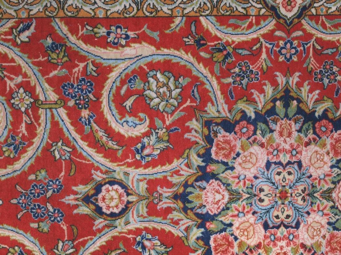 Vintage Persian Qum Carpet 7.25 x 4.5 FT - 6