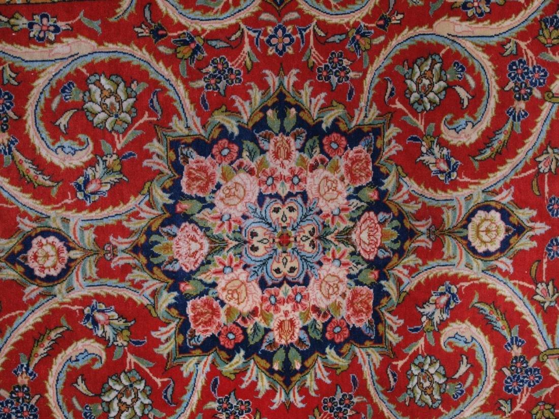 Vintage Persian Qum Carpet 7.25 x 4.5 FT - 7