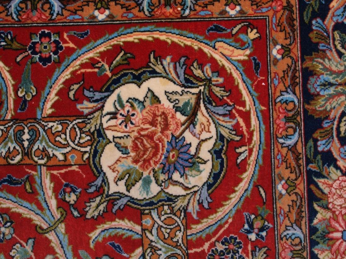 Vintage Persian Qum Carpet 7.25 x 4.5 FT - 8