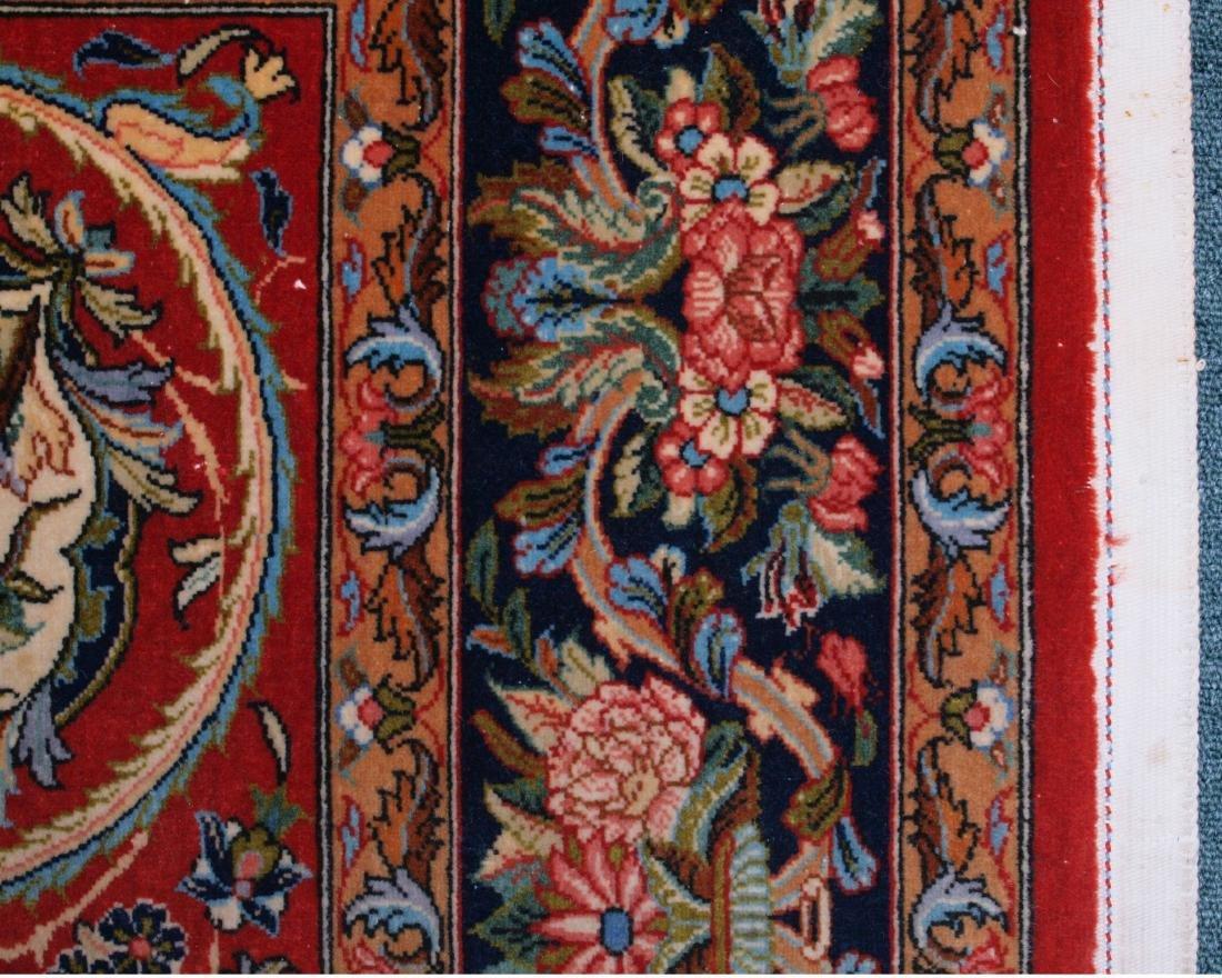 Vintage Persian Qum Carpet 7.25 x 4.5 FT - 9
