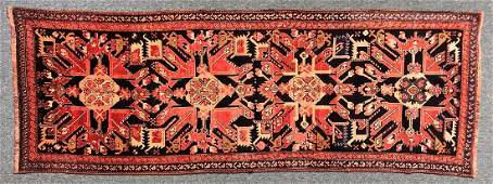 Antique Karabakh Carpet 9.75 x 3.5 FT