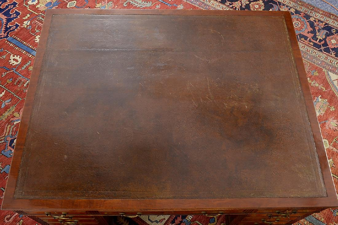 19th Century Partners Desk w/ Leather Top - 4