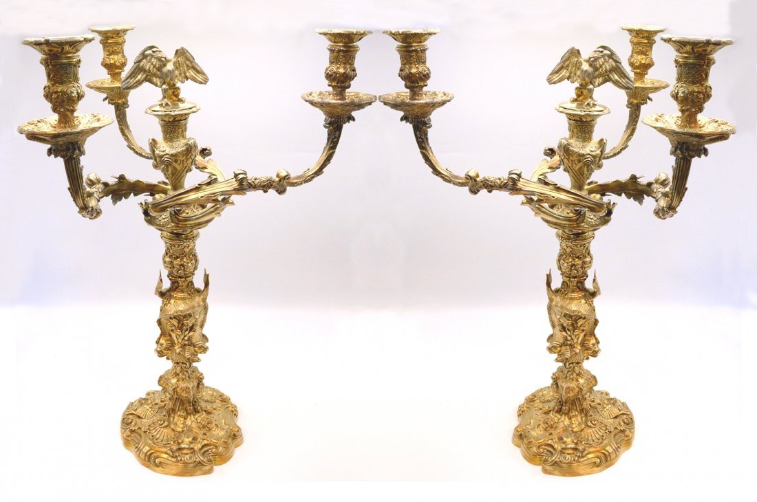 Charles Stuart Harris Antique Sterling Candelabras