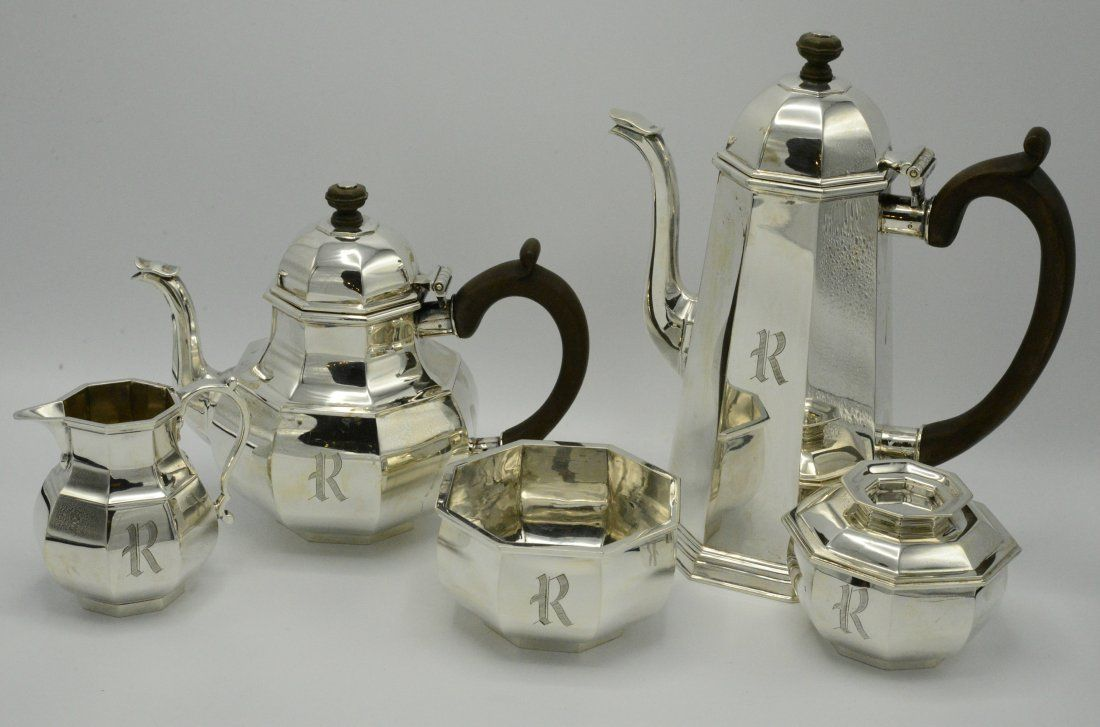 Tiffany Sterling Silver Tea Set 5 Pieces
