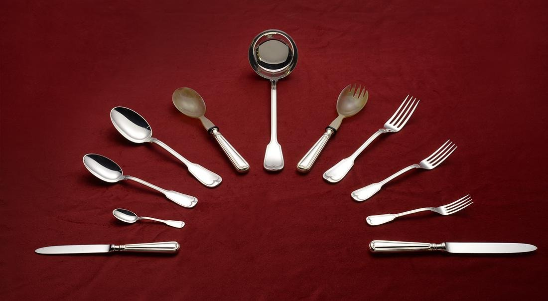 77 Piece Italian Silver Flatware Set - 2