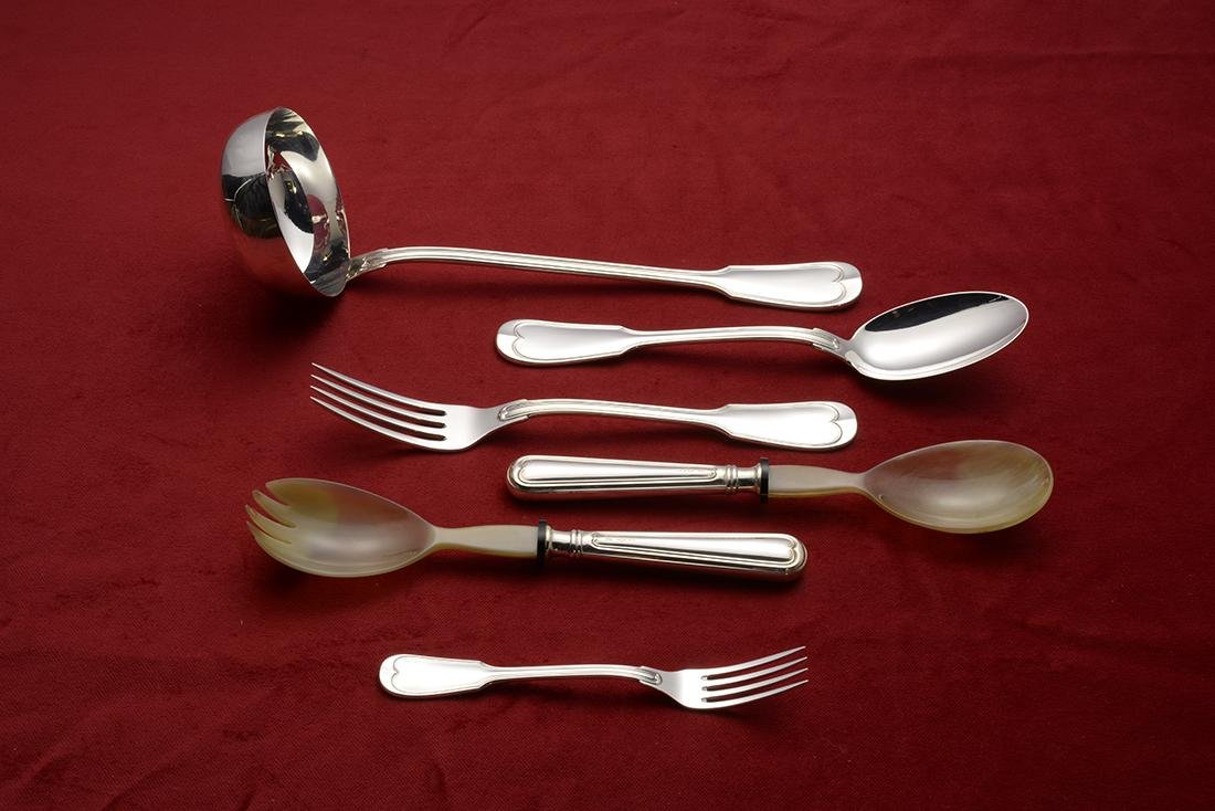 77 Piece Italian Silver Flatware Set - 3