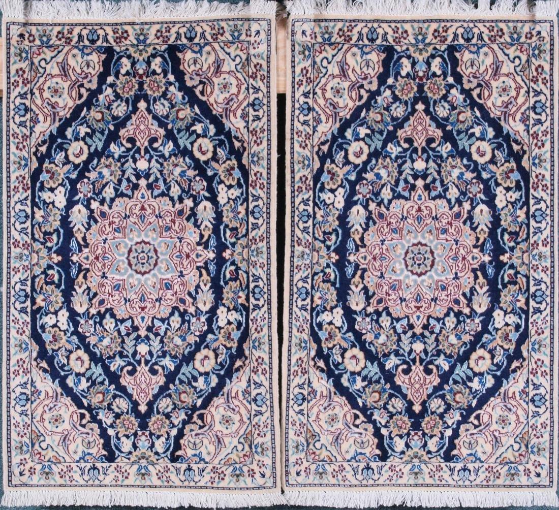 Pair of Nain 4 Strand Rugs 2.75 x 1.5 FT