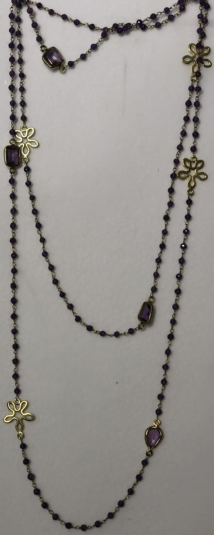 Amethyst Gilt Silver Necklace