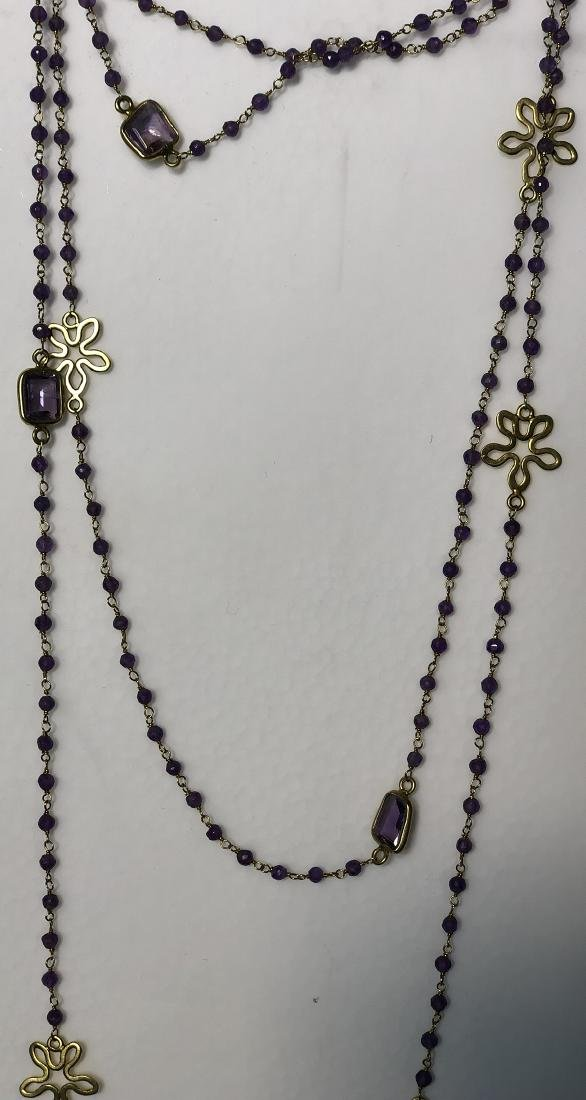 Amethyst Gilt Silver Necklace - 2