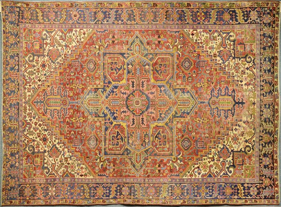 Original Antique Persian Heriz Carpet