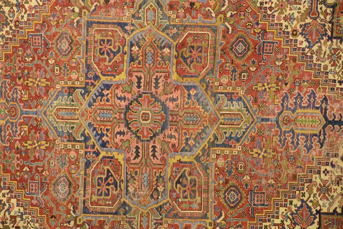 Original Antique Persian Heriz Carpet - 2