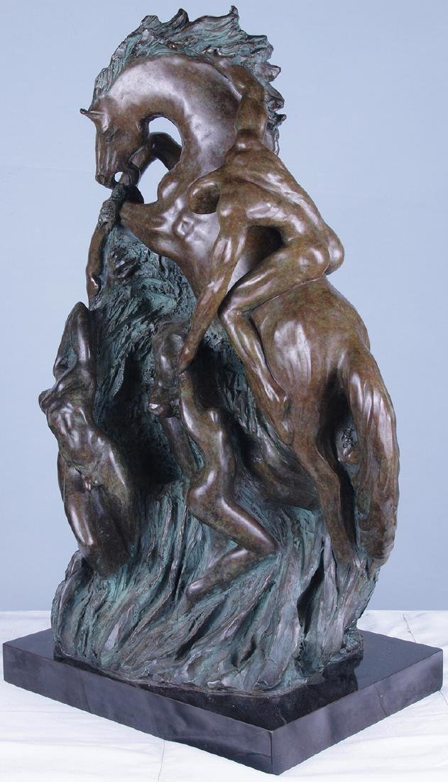 Patinated Bronze Horse Sculpture - 2