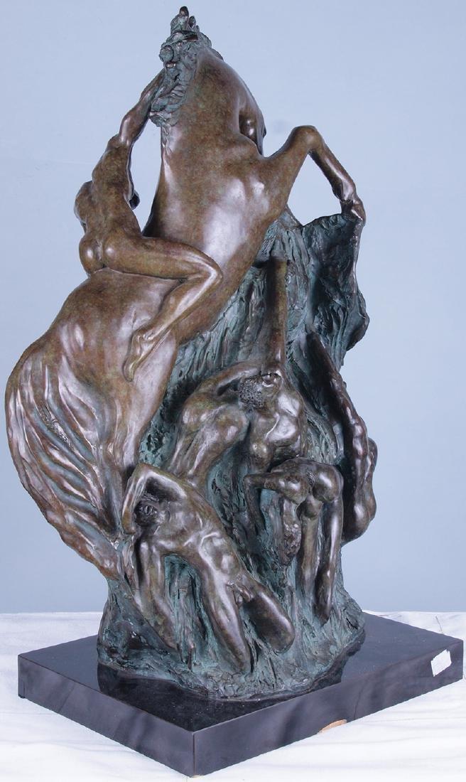 Patinated Bronze Horse Sculpture - 4