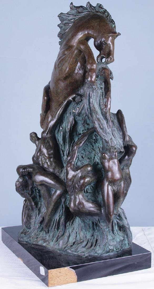 Patinated Bronze Horse Sculpture - 7