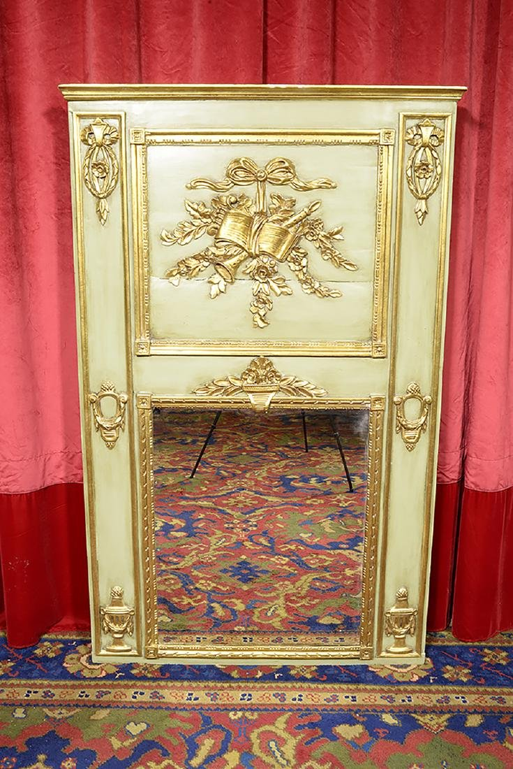 French Antique Trumeau with Mirror - 2