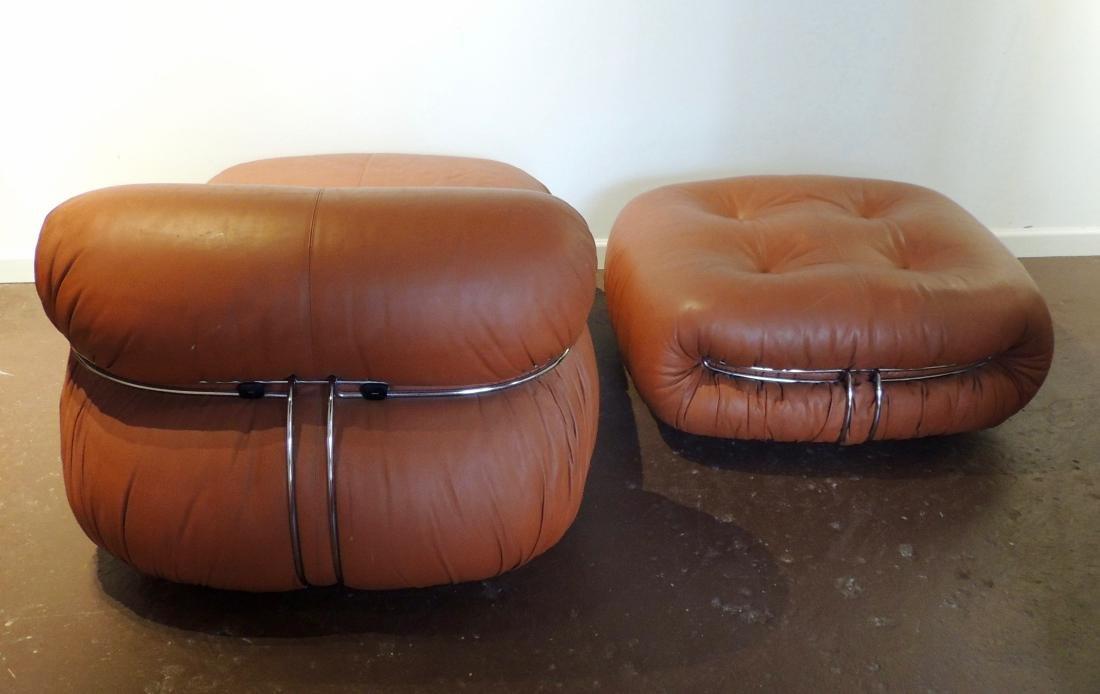 Afra & Tobia Scarpa Soriana lounge Chair & Ottoman - 3