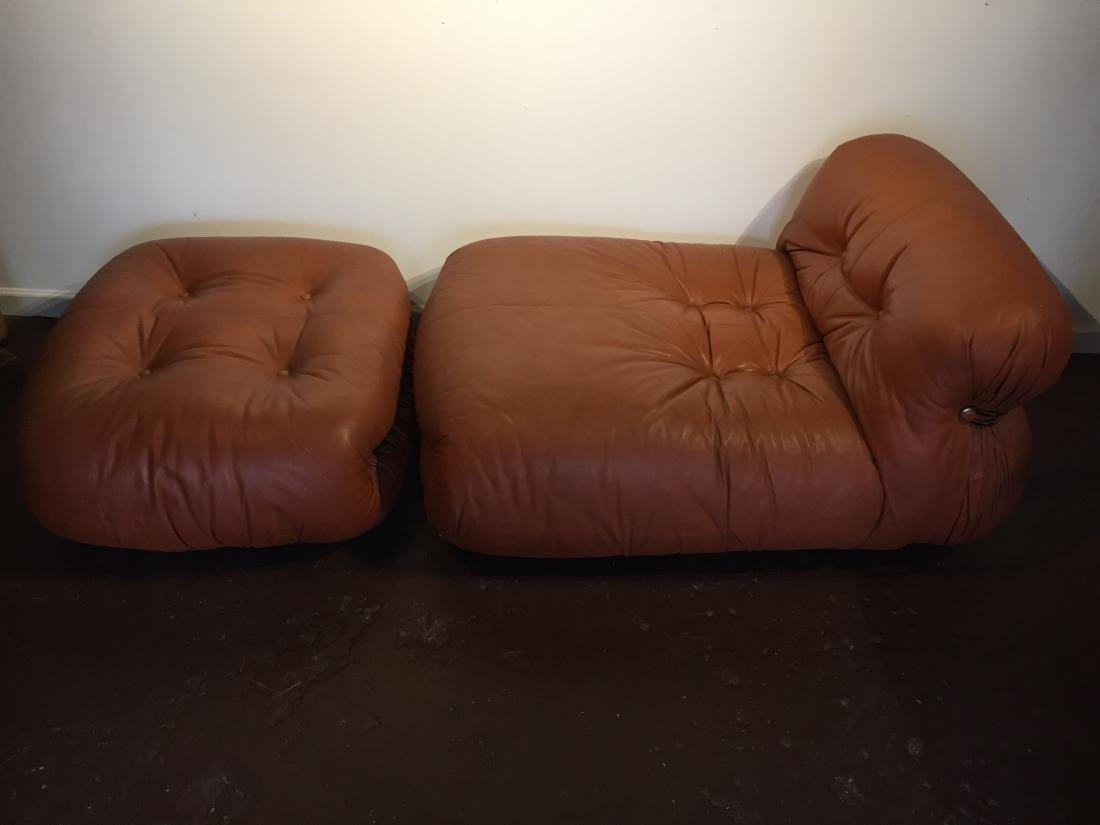 Afra & Tobia Scarpa Soriana lounge Chair & Ottoman - 6