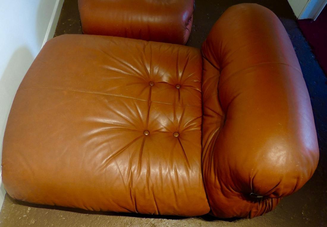 Afra & Tobia Scarpa Soriana lounge Chair & Ottoman - 7