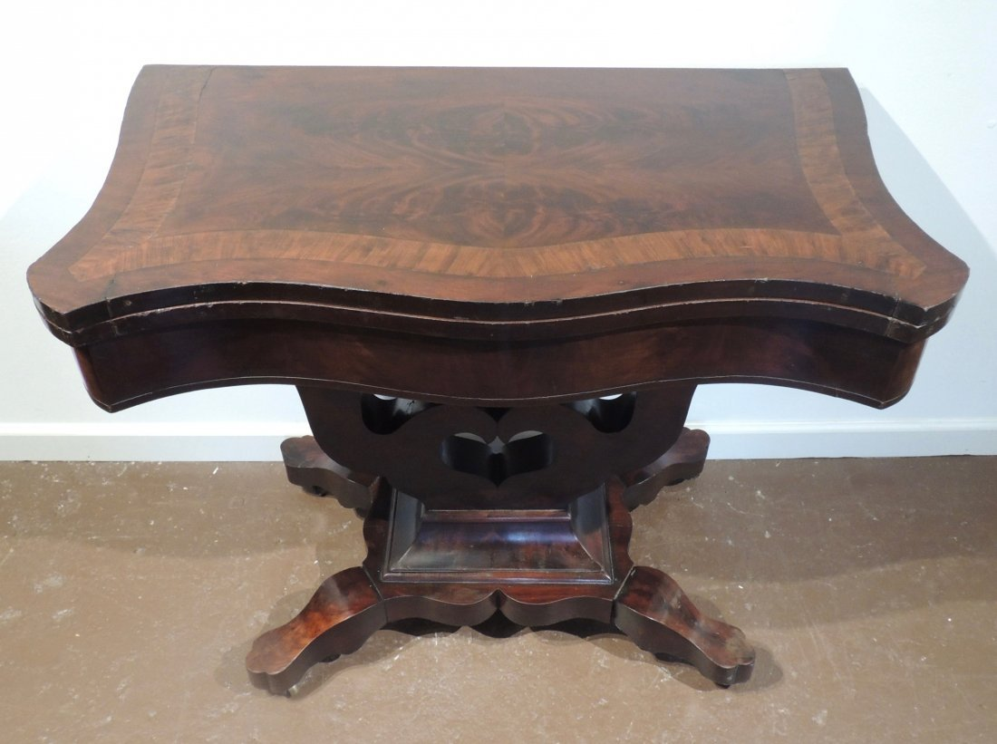 Federal Mahogany Folding Game Table - 2