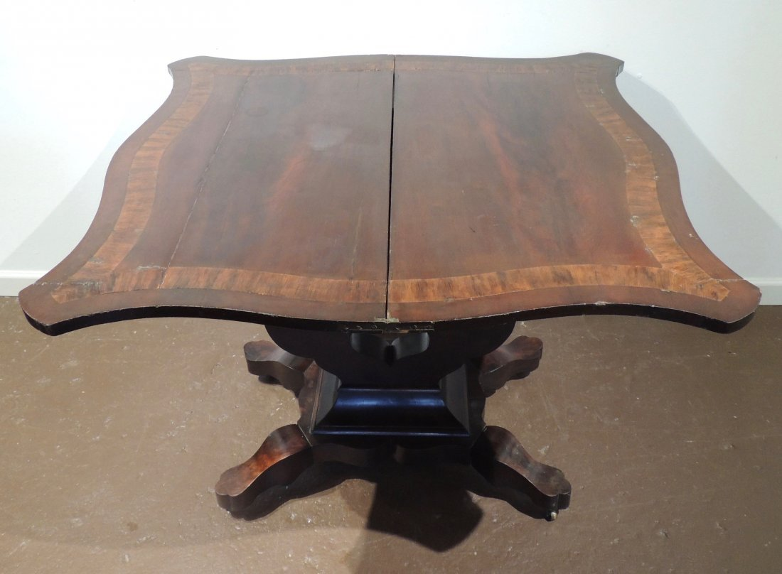 Federal Mahogany Folding Game Table - 3
