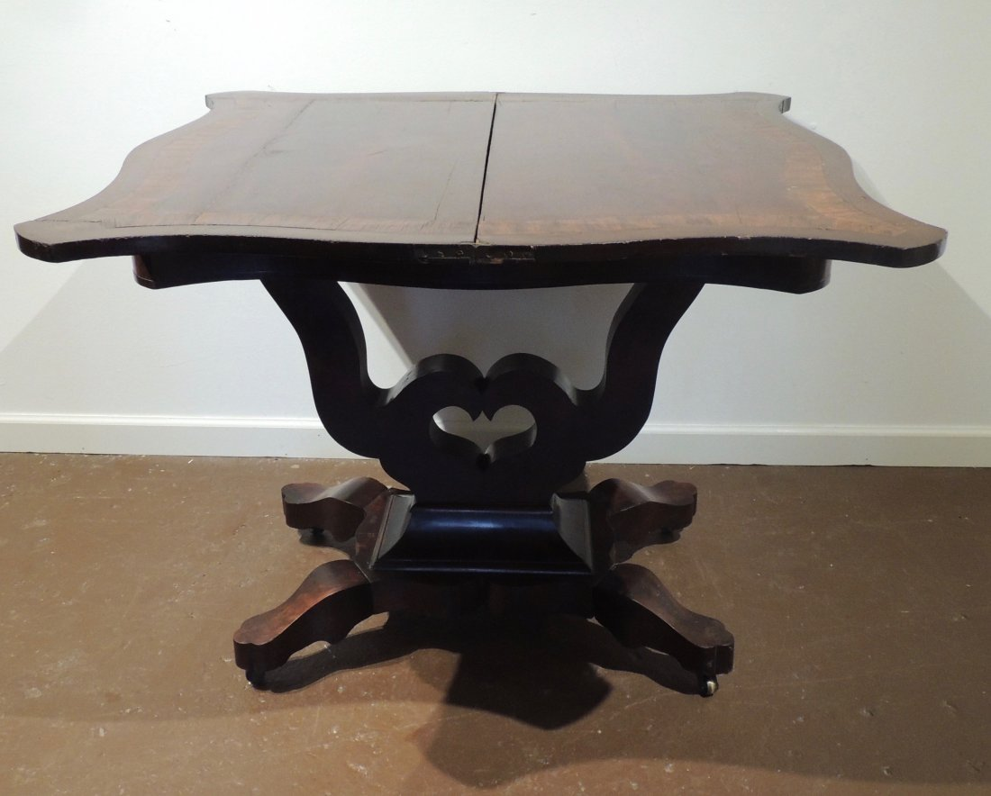 Federal Mahogany Folding Game Table - 4