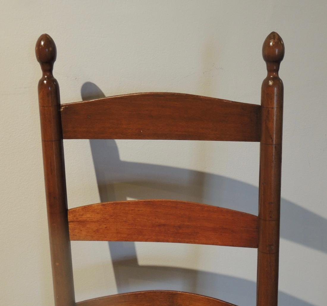 Shaker Wood Armed Rocking Chair with Rattan Seat - 2