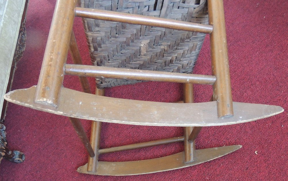 Shaker Wood Armed Rocking Chair with Rattan Seat - 5