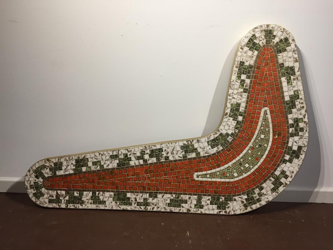 Mid Century Kidney Shaped Mosaic Tile Table (Missing