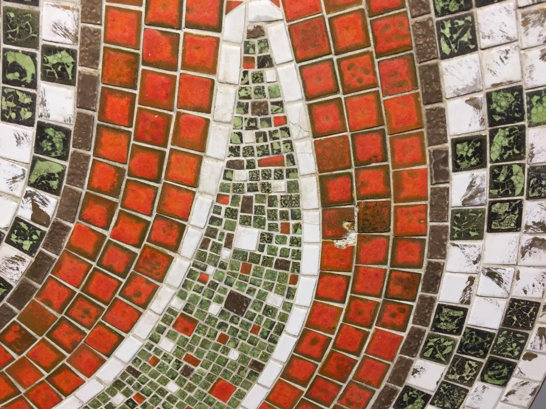 Mid Century Kidney Shaped Mosaic Tile Table (Missing - 2