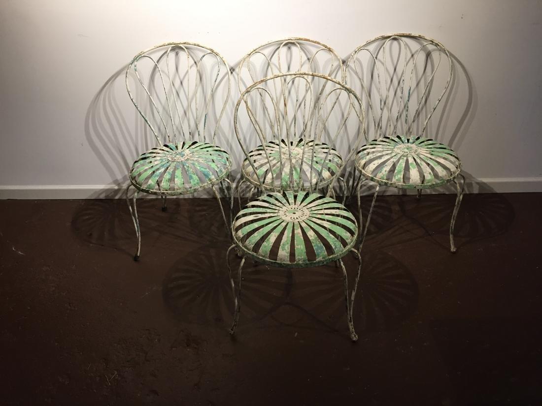 Francois Carre 1930's Sunburst Garden Chairs
