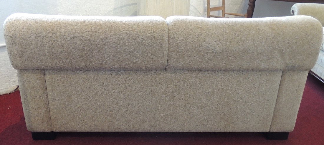 Pace Two Seat Recliner Sofa White Cloth - 3