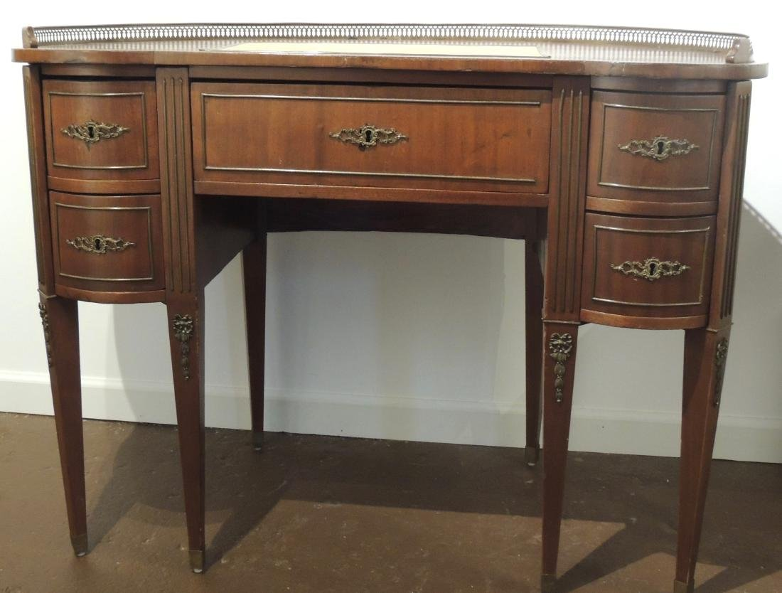 French Style Ladies Writing Desk in Walnut & Mahogany